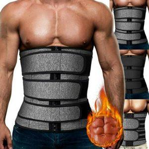 Men Sweat Sauna Waist Trainer Weight Loss Neoprene Corset Cincher Body Shaper SB