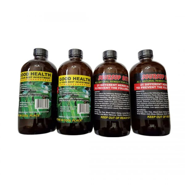 Soursop Bitters African Herbs and Roots 16 Oz (Pack of 4) 1