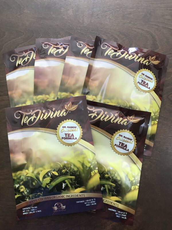 (6) (AUTENTICO) Te Divina Vida divina  Original Tea  Detox 100% ORGANIC (6)