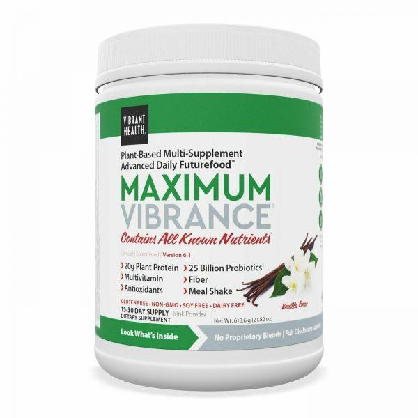 Maximum Vibrance Vanilla Multi-Supplement Powder 619g (21.82 oz) - Exp:  03 / 23