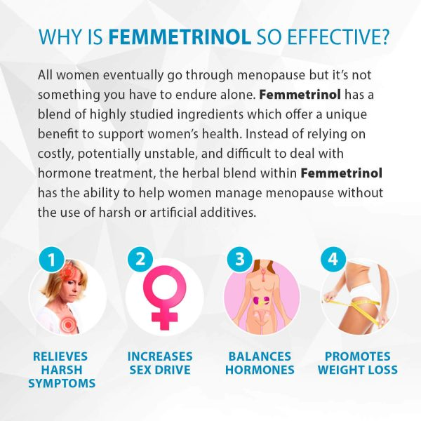 Femmetrinol Pills - 1 Bottle - Menopausal Symptom Relief  - 100% Natural  3