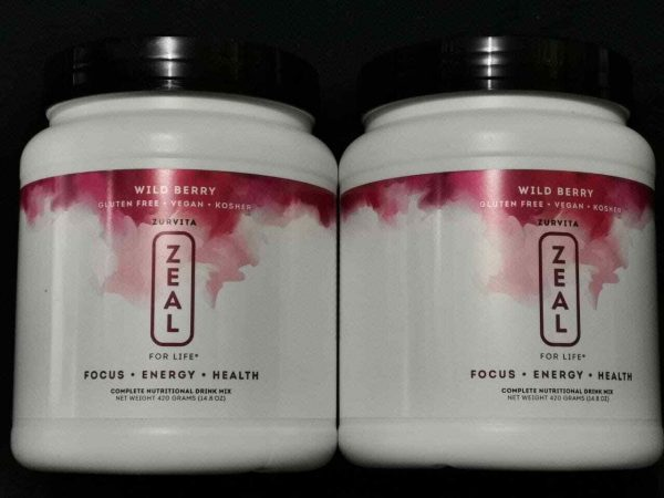 ZURVITA- ZEAL FOR LIFE -WILD BERRY FLAVOR -420g - 2 CANISTER (SHIP FAST)