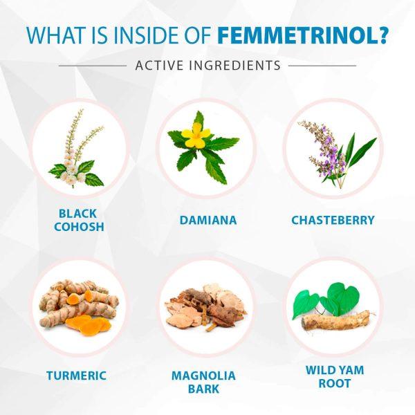 Femmetrinol Pills - 1 Bottle - Menopausal Symptom Relief  - 100% Natural  4