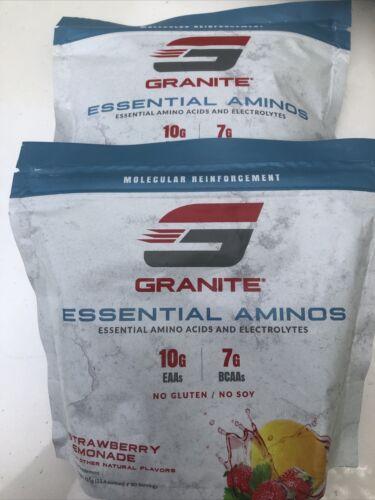 Granite® Essential Amino Acids + BCAA, Strawberry Lemonade, 2-Pack, 15.4oz Each