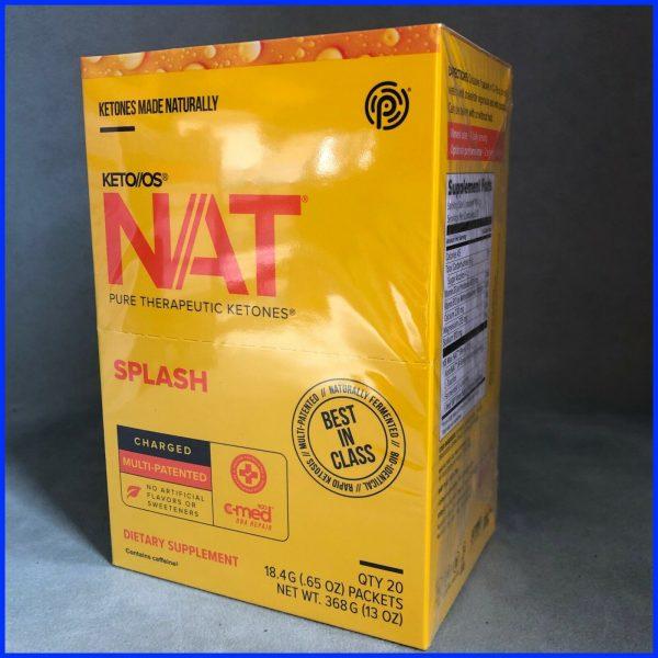 Keto Os Nat Splash Charged 20 Servings Sealed Box Diet Weight Pruvit 6/22