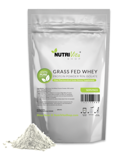 NVS 100% Pure Whey Protein Isolate 90% Grass Fed USDA Certified (Unflavored) USA