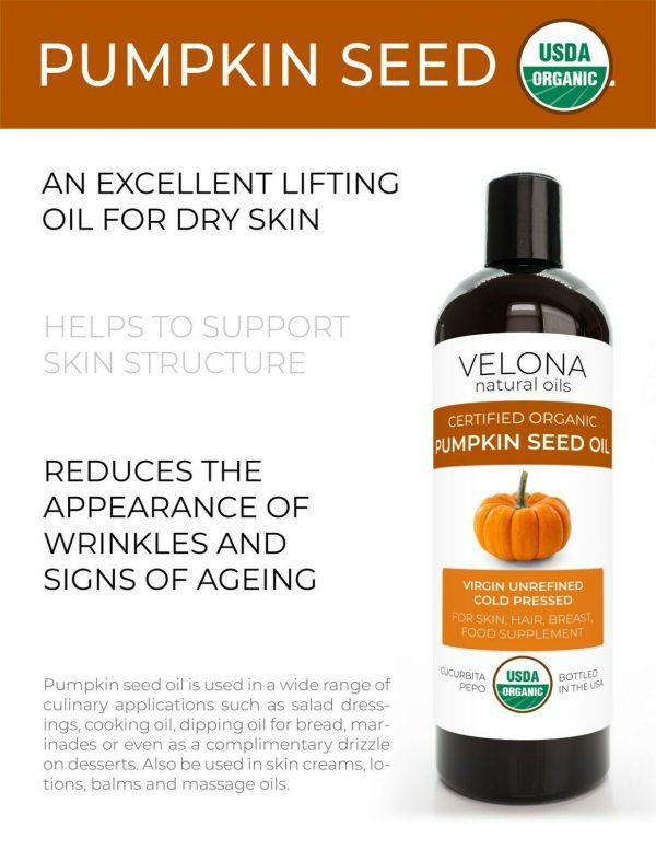 Velona Pumpkin Seed Oil USDA Certified Organic 2oz-7lb Virgin Unrefined Cooking  1