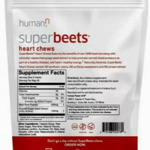 *Amazing!* HumanN SuperBeets Heart Chews,Soft Chews,Grape Seed Extract 1