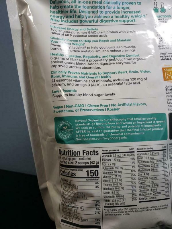 Shaklee Life Shake Soy Protein - French Vanilla - New! 28 Servings Exp 2/2022 1
