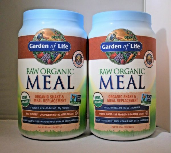 Lot Of (2) Garden Of Life Raw Meal Vanilla Spiced Chai Vegan Meal Replacement