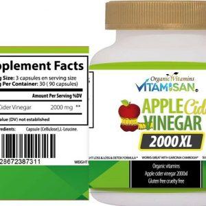 Vinagre De Manzana Apple Cider Vinager Capsulas Quema Grasa Mejora la Digestion