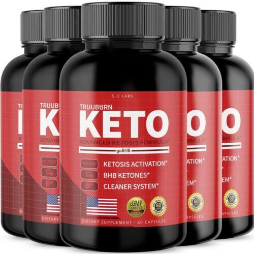 (5 Pack) Truuburn Keto Weight Loss Diet Pills goBHB Ketogenic Supplement