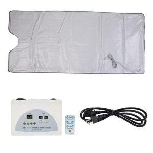 110V Far Infrared Sauna Heating Blanket Body Shape Slimming Fitness Machine US