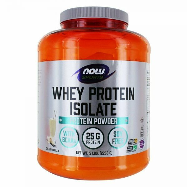 NOW Foods - NOW Sports Whey Protein Isolate Powder Creamy Vanilla - 5 lbs.
