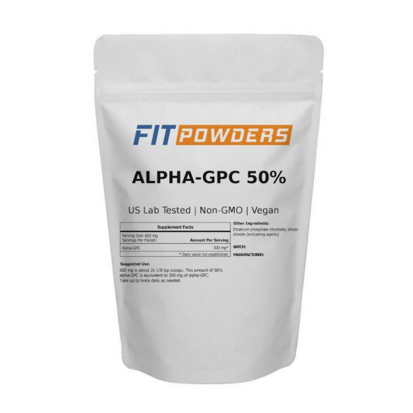 FitPowders Alpha-GPC 50% Powder 3rd Party Tested Non-GMO with Scoop (Variations) 1