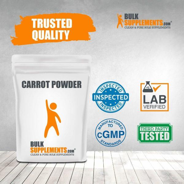 BulkSupplements.com Carrot Powder - Powdered Greens Supplement - Food Powders 4
