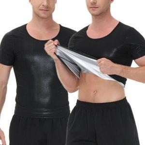 Men's Sauna Hot Sweat Heat Trapping T-shirt Fat Burner Singlet Workout Shapewear