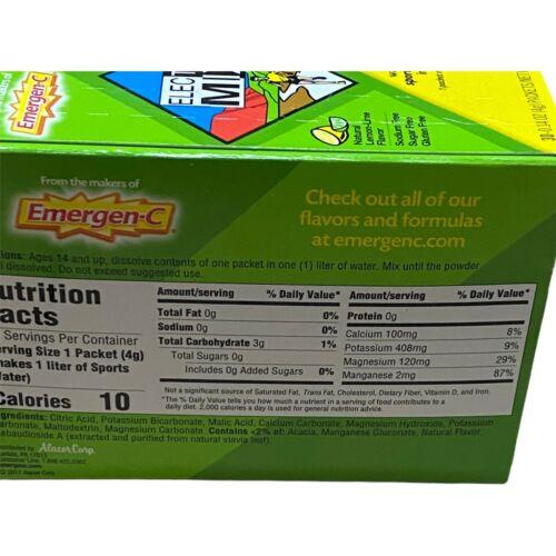 Emergen-C Electro Mix Lemon-Lime 30 Packets 0.14 oz ea Gluten-Free EXP: 08/2021 6