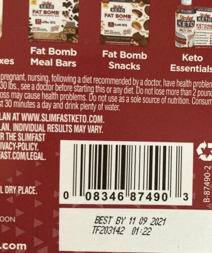 80 SlimFast Keto Meal Bars & Fat Bomb Snacks, Chocolate, Mint, Cheese Read Desc 6