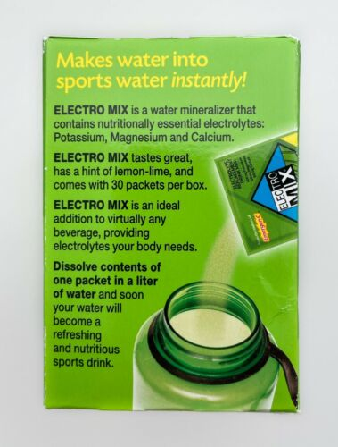 Emergen-C Electro Mix Lemon-Lime 30 Packets 0.14 oz ea Gluten-Free EXP: 08/2021 3