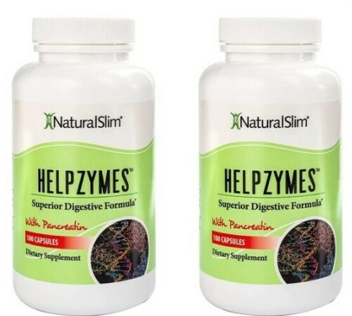 2 Pack NaturalSlim Helpzymes Digestive Enzymes Weight Loss Digestive Support