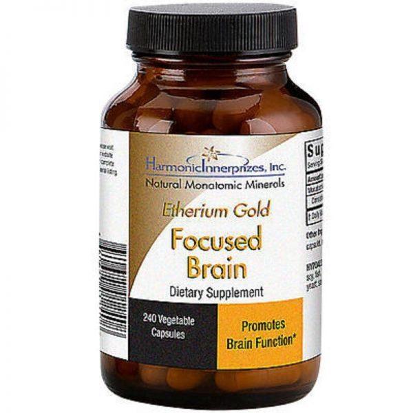Harmonic Innerprizes Etherium Gold 240 VCaps - FOR FOCUSED BRAIN & SHARPNESS 1
