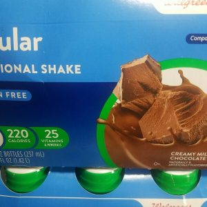 ×52) Walgreens Regular Nutrition Shake ~Compared To Ensure ~3 Flavers ~Exp. 7/21 1