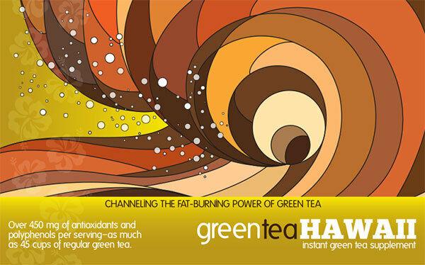 Green Tea Hawaii - Kona Mocha coffee flavor (60 Count box ) Energy, Diet 2