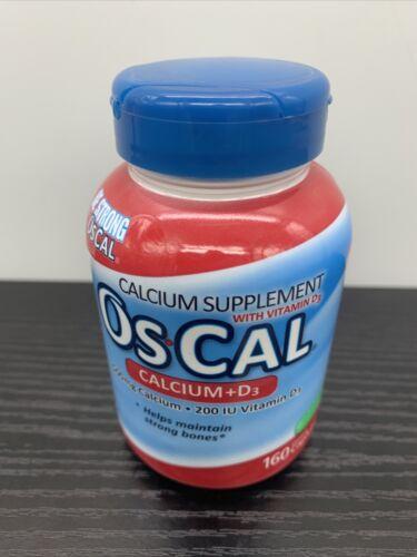 Os-Cal Calcium 500 mg+D3 200 IU Supplements Vitamin 160 • Exp 08/2021