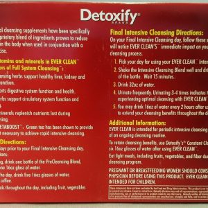2 Boxes Detoxify Everclean Herbal Cleanse 5 Day Program with Green Tea Metaboost 1