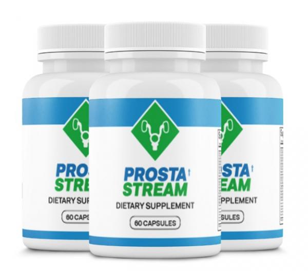 (3 Bottles) ProstaStream - Prosta Stream, Prostate Support Supplement 60 Caps