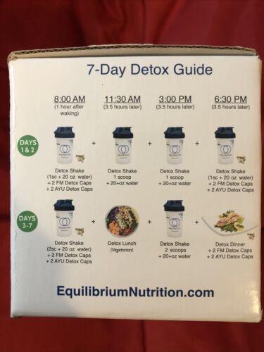 Equilibrium 7 Day Detox Kit Box Natural Vanilla Factory Sealed NEW  3