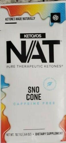 Pruvit KETO OS NAT OTG SNO CONE SNOW CONE Caffeine Free ketones 10 packs ex 2022