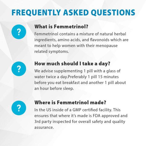 Femmetrinol Pills - 1 Bottle - Menopausal Symptom Relief  - 100% Natural  2