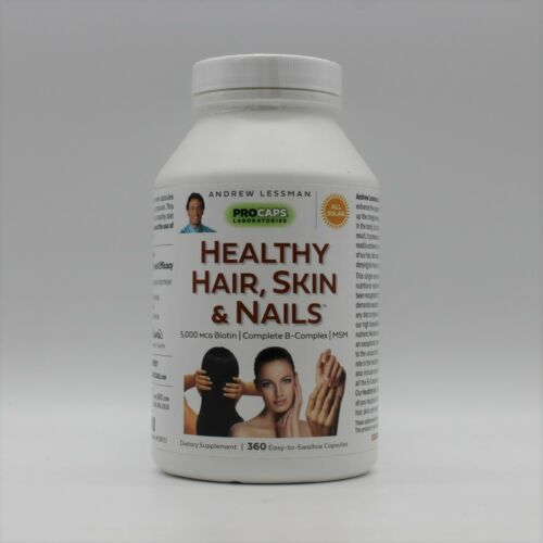 Andrew Lessman Healthy Hair Skin & Nails 5,000 MCG Biotin 360 Capsules 9/30/2023