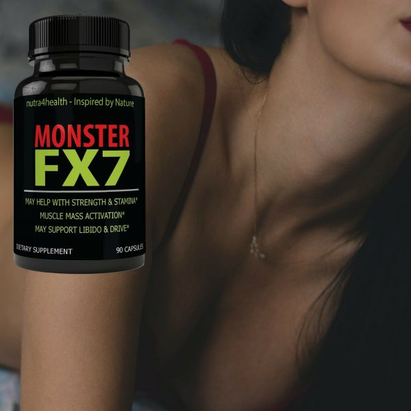 Monster FX7 Male Enhancement 4 Bottle Pack Supplement Advanced Enhancing Pills 5