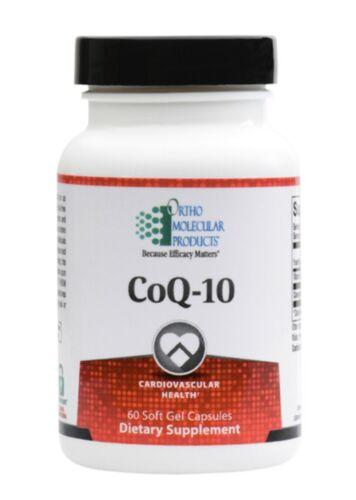 Ortho Molecular CoQ-10 60 Soft Gel Capsules Exp. 9/22 FRESH & FAST