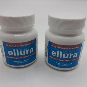 (LOT OF 2) ellura 36 mg PAC 30 Capsules - Urinary Tract Health Supplement