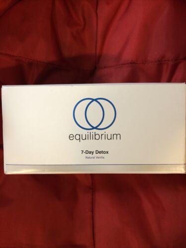 Equilibrium 7 Day Detox Kit Box Natural Vanilla Factory Sealed NEW