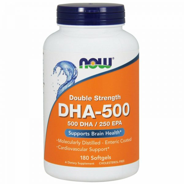Now Foods, (3 Pack) DHA-500/EPA-250, Double Strength, 180 Softgels