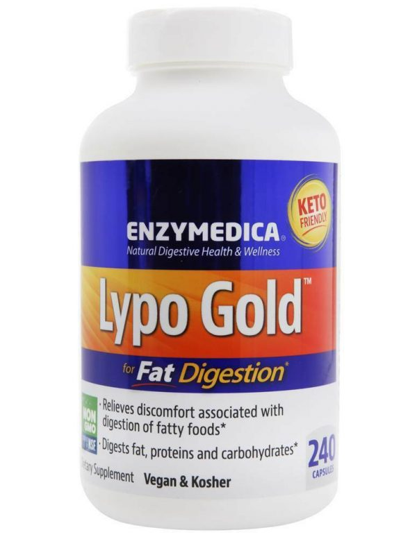 Enzymedica - Lypo Gold for Fat Digestion - 240 Capsules