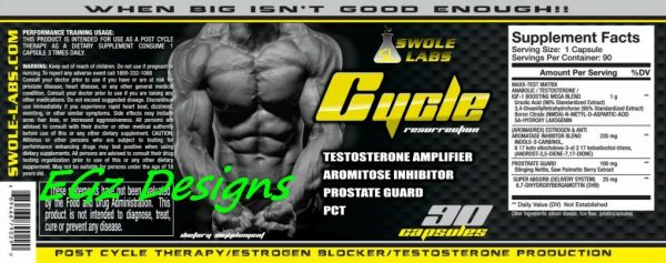 SWOLE LABS * TRI-MENTAL & CYCLE RESURRECTION PCT - EXTREME 2 PACK COMBO!! 6