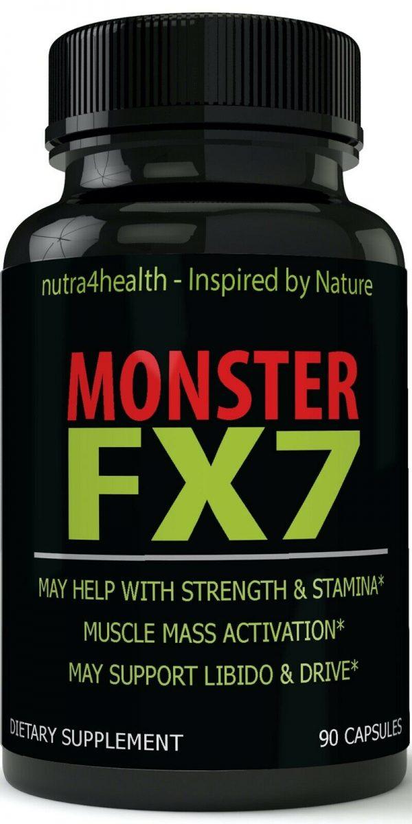 Monster FX7 Male Enhancement 4 Bottle Pack Supplement Advanced Enhancing Pills 2