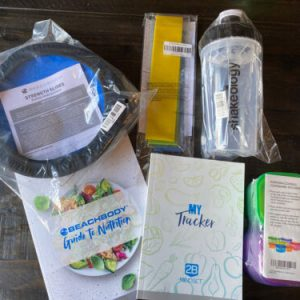 Beachbody Slides, Loops,Tracker, Guide To Nutrition, Shaker Cup, Food Containers