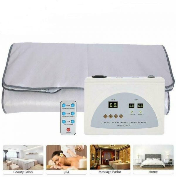 Far Infrared Sauna Blanket 2 Zone Slimming Weight Digital Controller Spa Beauty 1