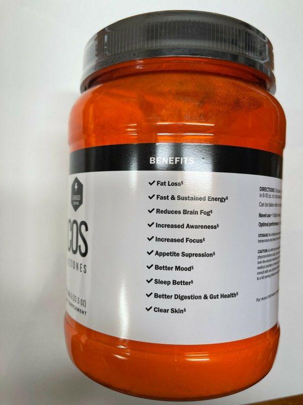 Pruvit Keto COS Orange Dream Charged, New Sealed, Bulk 23.5oz, Exp 3/22 3