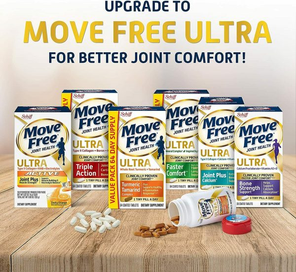 Move Free Vitamin D3, MSM, Glucosamine And Chondroitin - Advanced Tablets (120 8