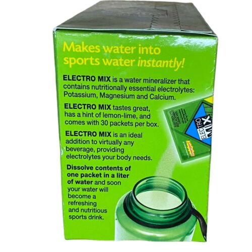 Emergen-C Electro Mix Lemon-Lime 30 Packets 0.14 oz ea Gluten-Free EXP: 08/2021 1