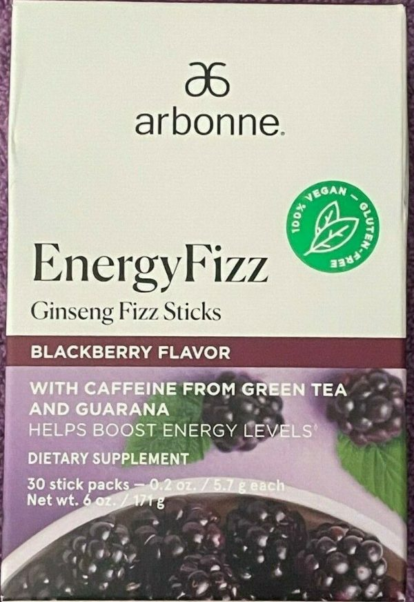 Arbonne Energy Fizz Sticks Blackberry Flavor 30 Sticks - Sold Out