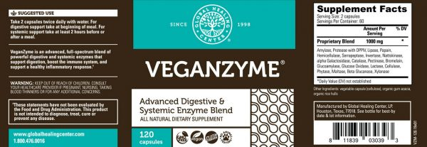 Veganzyme Natural Systemic & Digestive Enzymes Supplement - Vegan Safe (2-Pack) 1